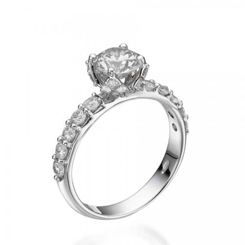 טבעת אירוסין דגם כתר משודרגת