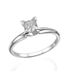 טבעת אירוסין פרינסס קלאסית