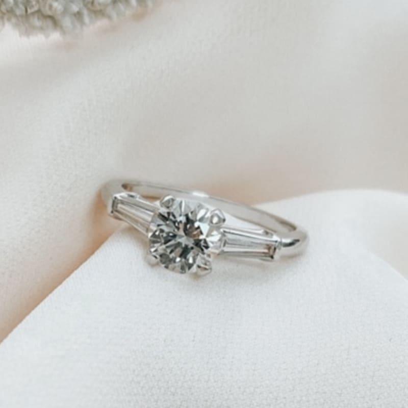 טבעת אירוסין טרי סטון פלטינום
