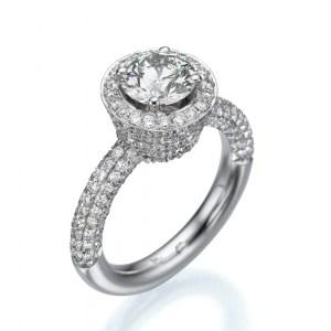 טבעת אירוסין זהב 18K
