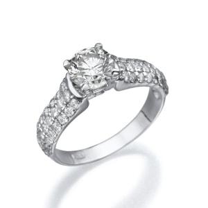 טבעת יהלומים 3 שורות