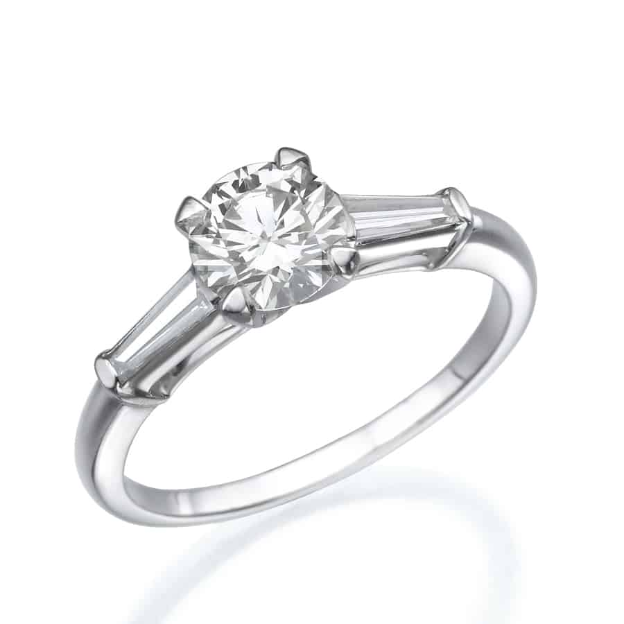 טבעת טרי סטון פלטינום