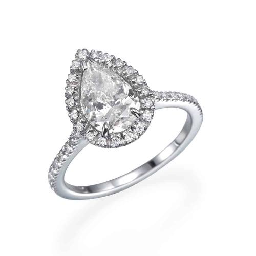 טבעת אירוסין טיפה