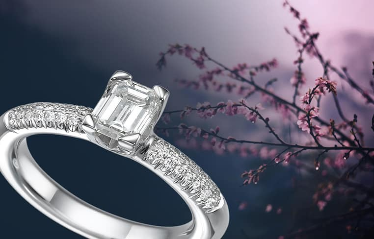 טבעת אירוסין עגולה משובצץ יהלומים