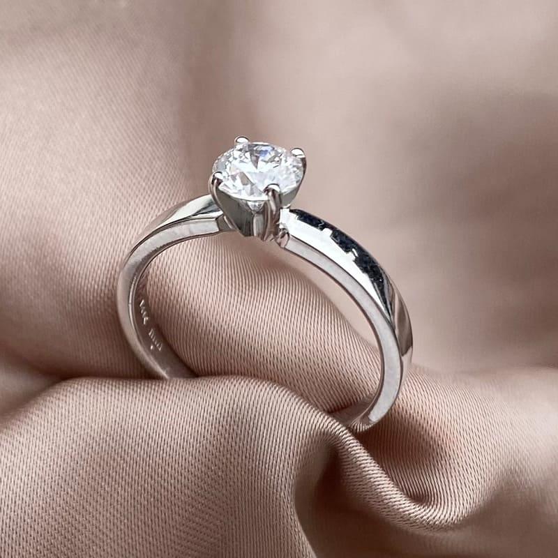 טבעת אירוסים קלאסית זהב 14k