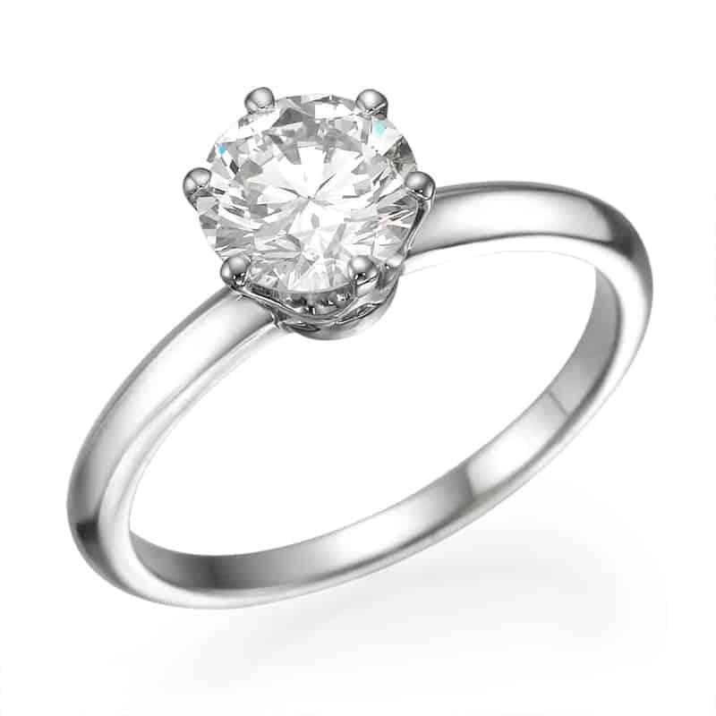 טבעת אירוסין יהלום סוליטר קלאסית